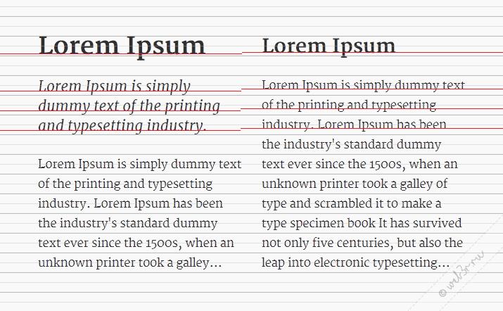 Выравнивание оснований текста в разных колонках